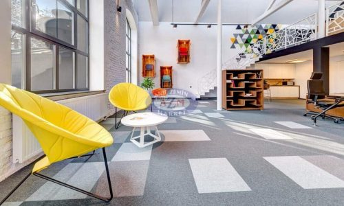 Tessera karo halı gri polyamid ofis halısı (4)