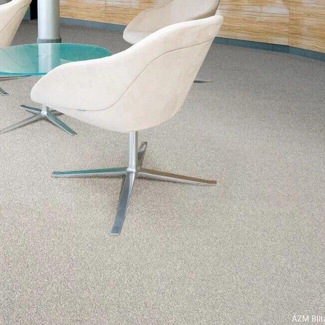 Anıl Zemin balta 50x50 polyamid ofis karo halı zemin kaplama Blitz 33 beige uygulama