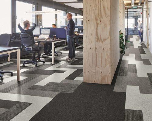 AZM Tessera Layout Outline polyamid Karo Halı ofis halı (2)