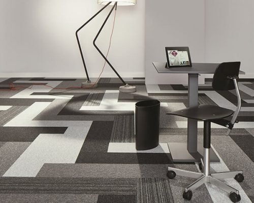AZM Tessera Layout Outline polyamid Karo Halı ofis halı (3)