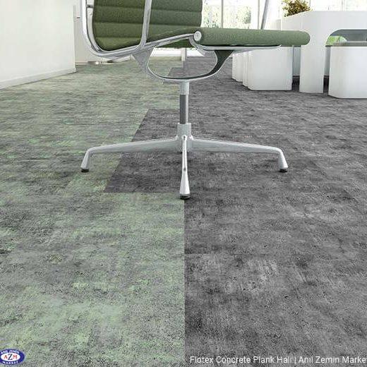 flotex concrete plank karo halı 139014 lichen uygulama