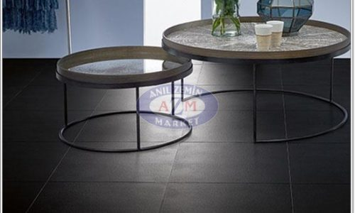 Eternal de luxe PVC zemin kaplama uygulama görseli 2799-3299 charcoal tile