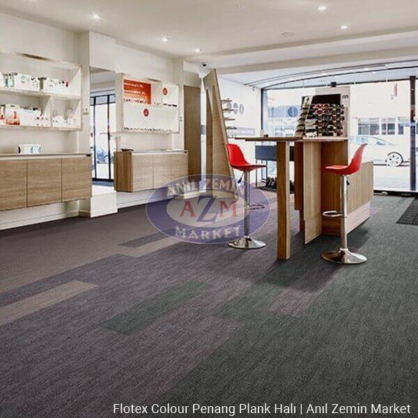 Flotex Colour Penang Plank Halı Uygulama - p982007 Penang zinc