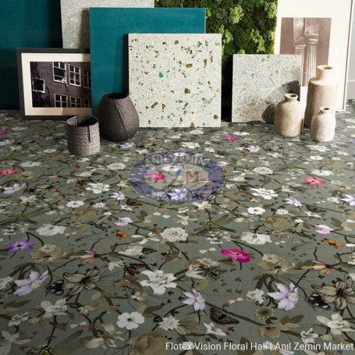 Flotex Vision Floral Rulo Halı - 840006 Botanical Cyclamen