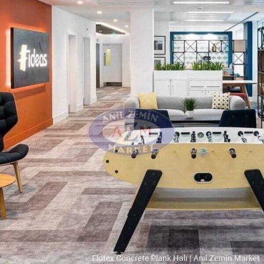 Flotex concrete plank karo halı uygulama görseli 1