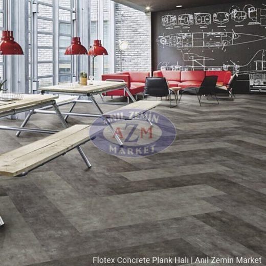 Flotex concrete plank karo halı uygulama görseli 2