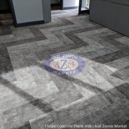 Flotex concrete plank karo halı uygulama görseli 3