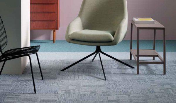 gri çizgili karo halı - forbo flooring