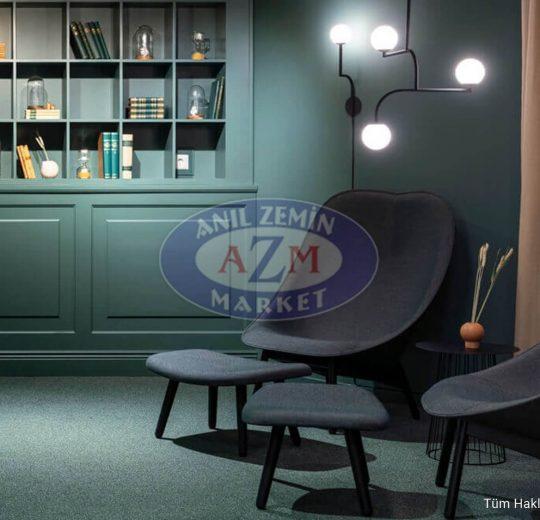 yeşil karo halı - gri karo halı - ofis halısı - polyamid halı - pvc halı - ucuz halı - tessera halı