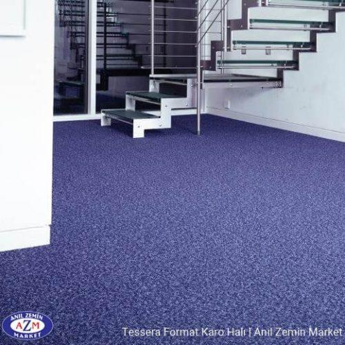 Tessera Format  karo halı uygulama görseli - 608 blue Monday