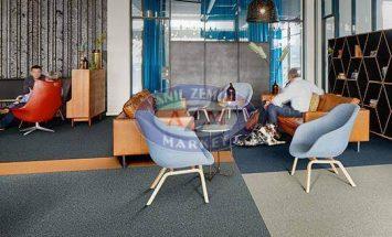 koyu gri turuncu açık gri karo halı - forbo flooring - 50x50 halı