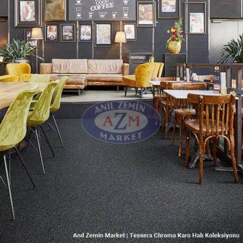 siyah karo halı - forbo flooring - 50x50 halı