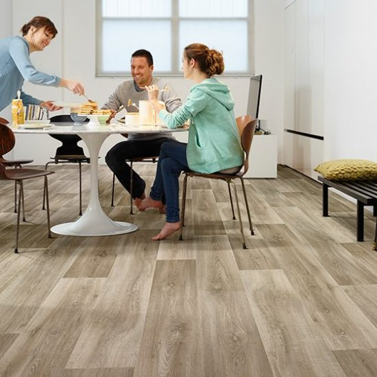 Pure Wood LVT Zemin Kaplama uygulama lime 669M-1