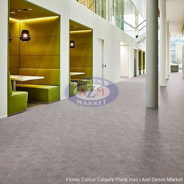 flotex colour calgary plank karo halı - p990012 Calgary cement