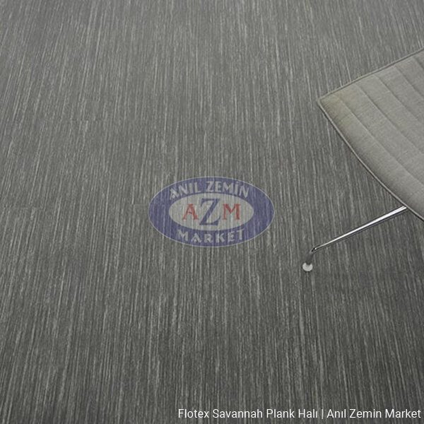flotex savannah plank karo halı uygulama - 911004 charcoal