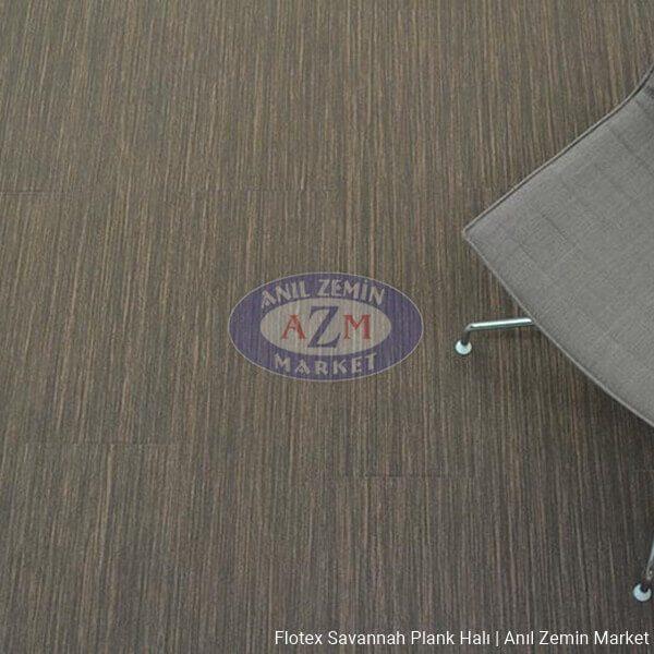 flotex savannah plank karo halı uygulama - 911005 walnut