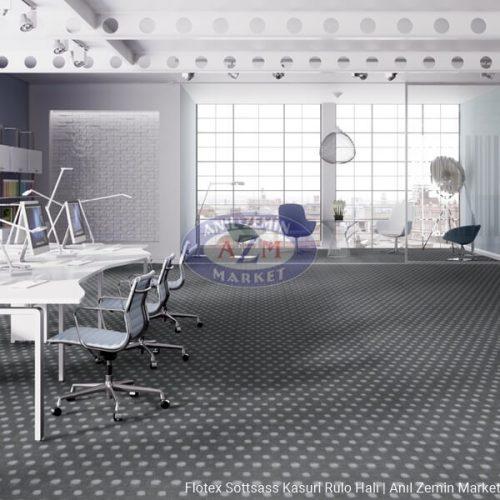 gri damalı leke tutmayan antibakteriyel rulo ofis halı