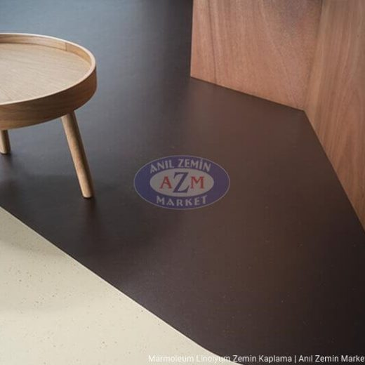 marmoleum decibel linolyum zemin kaplama 358135 dark chocolate