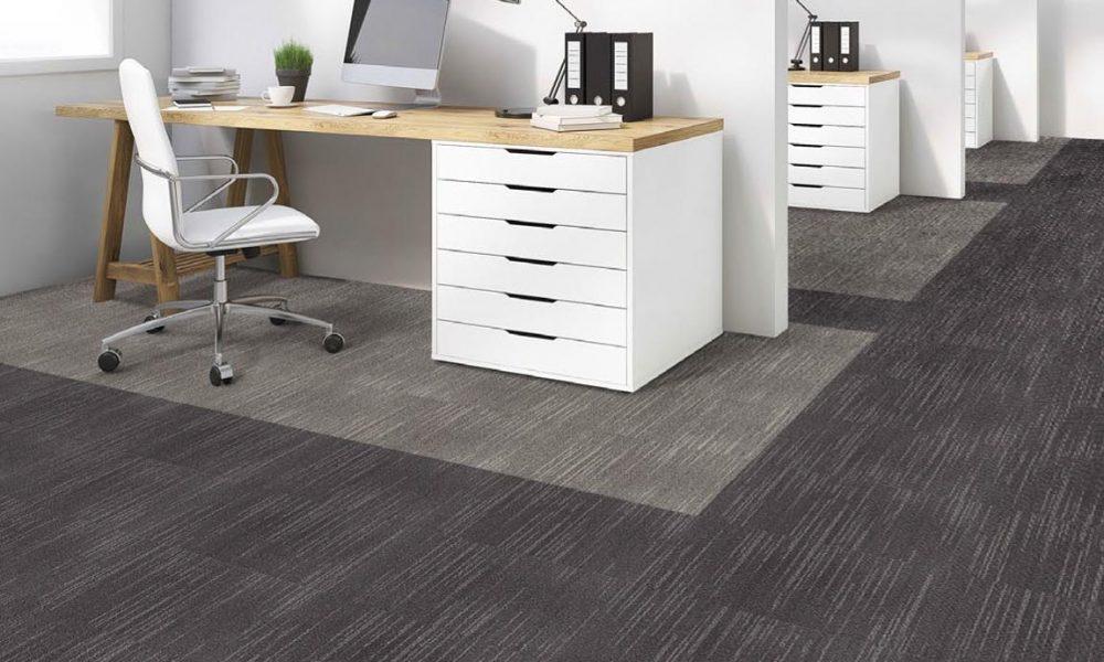 siyah ve gri desenli karo halı - ofis halısı
